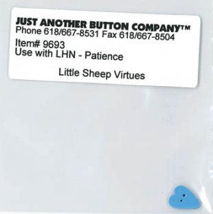 Little Sheep Virtues 7-Patience Button (9693.G) by Just Another Button Company