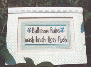 Bathroom Rules by Angel Stitchin