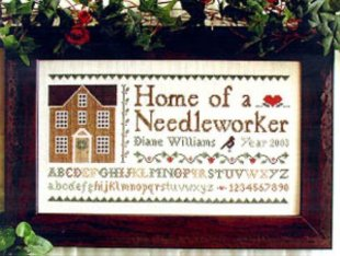Home of a Needleworker - Little House Needleworks cross stitch pattern