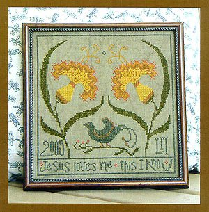 Jasmine's Song floral cross stitch pattern by La D Da