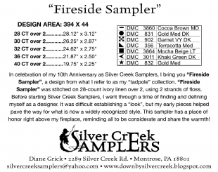 Fireside Sampler Supply List
