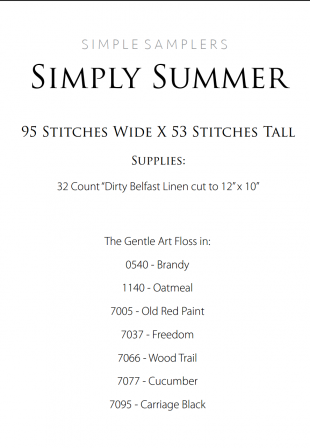 Simply Summer Supply List