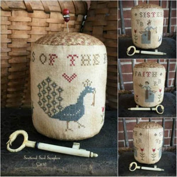 Pumpkin Seeds Drum Pinkeep Dulaney Woods Treasures Cross Stitch Pattern