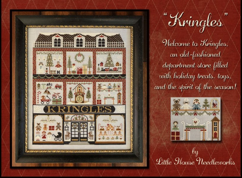 Kringles 10/% Off Little House Needleworks Counted X-stitch chart