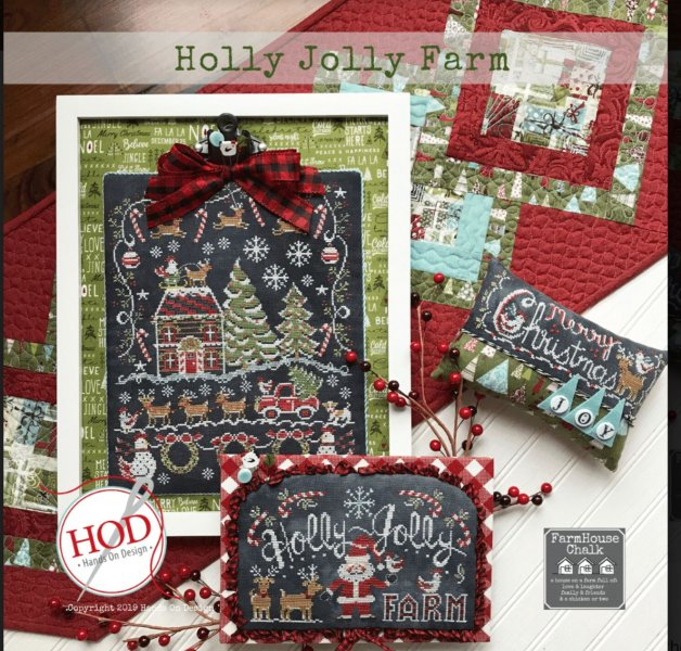 Farm Folk Cross Stitch Chart and Free Embellishment Farmhouse Christmas 8