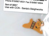 Santa's Village 9-Santa's Sleighworks Btn (9667.G) by Just Another Button Company