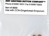 Santa's Village 10-GingerbreadEmp. Btn Pk (9668.G) by Just Another Button Company