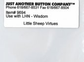 Little Sheep Virtues 8-WisdomButton (9694.G) by Just Another Button Company