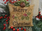 Primitive Merry Christmas Pillow