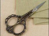 Victorian Embroidery Scissors Bronze