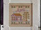 Country Cottage Needleworks April Cottage Cross Stitch Pattern