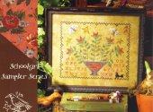 Glad Tidings floral cross stitch pattern by Blackbird Designs