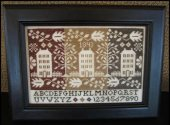 The Scarlett House Coverlet Houses Cross Stitch Pattern