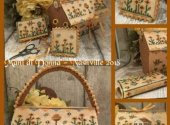 Flowers Cottage Sewing Basket