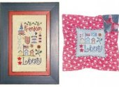 Lizzie Kate Liberty Sampler Cross Stitch Pattern