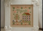 March Cottage Cross Stitch Pattern