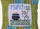 March Pillow Kit Cross Stitch Pattern