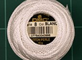 DMC #8 Perle Cotton White - 85M Pack