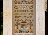 Little House Needleworks Spring Sampler Cross Stitch Pattern