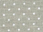 Zweigart 32 Ct Petit Point Natural White Dots