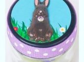 Just Nan Chocolate Bunny Pinball Jar