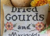 Dried Gourds and Marigolds