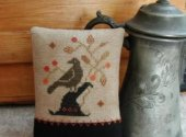 Primitive Threadworks Enchanted Crow Cross Stitch Pattern