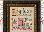Lizzie Kate Fear Less Hope More Cross Stitch Pattern