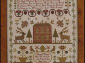 Hannah Tinget 1823 by Reproduction Sampler