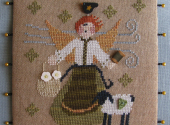March Angel Cross Stitch Pattern